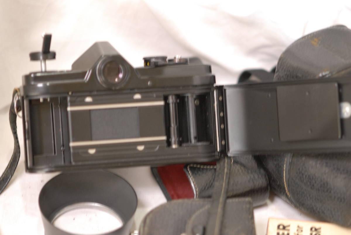 Minolta ミノルタ SR-1 レンズ Minolta auto rokkor-pf 1:2 f=55mm 保護フィルター2枚フード付き ケース付き ブラック_画像8
