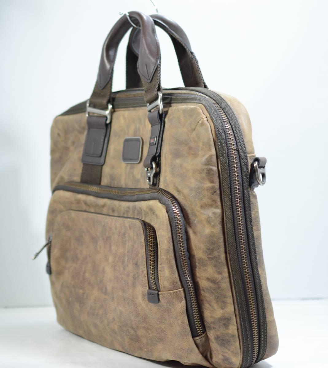 ☆美品 TUMI トゥミ ビジネスバッグ ブリーフケース バッグ 茶色 ブラウン☆高級書類鞄☆_画像4