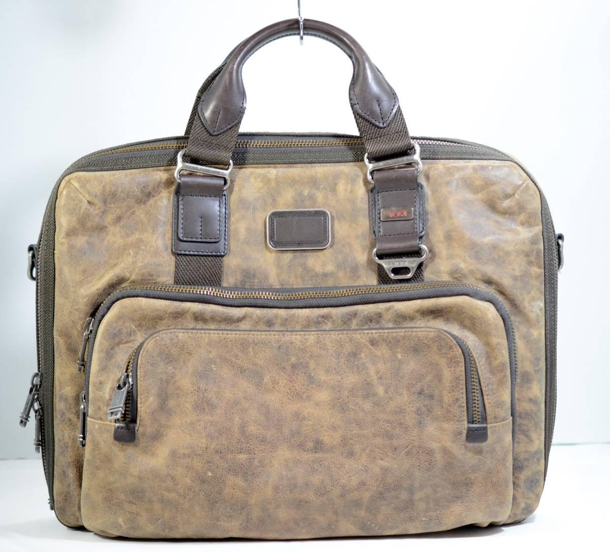 ☆美品 TUMI トゥミ ビジネスバッグ ブリーフケース バッグ 茶色 ブラウン☆高級書類鞄☆_画像1