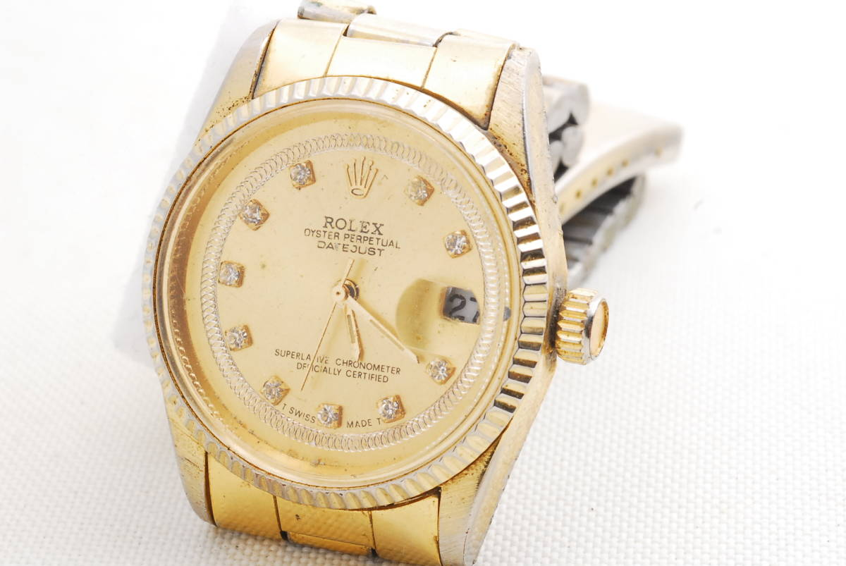ロレックス ROLEX OYSTER PERPETUAL DATE JUST ゴールド 腕時計