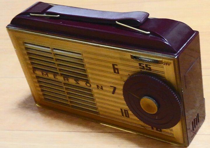 昭和レトロ・希少!Emerson 747 サブミニ管ラジオ 1953年 ジャンク_画像4