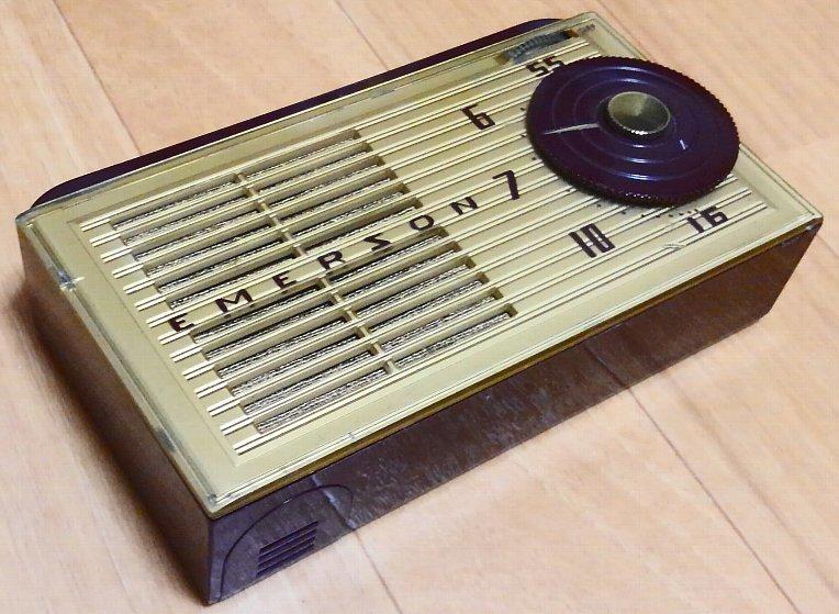 昭和レトロ・希少!Emerson 747 サブミニ管ラジオ 1953年 ジャンク_画像2