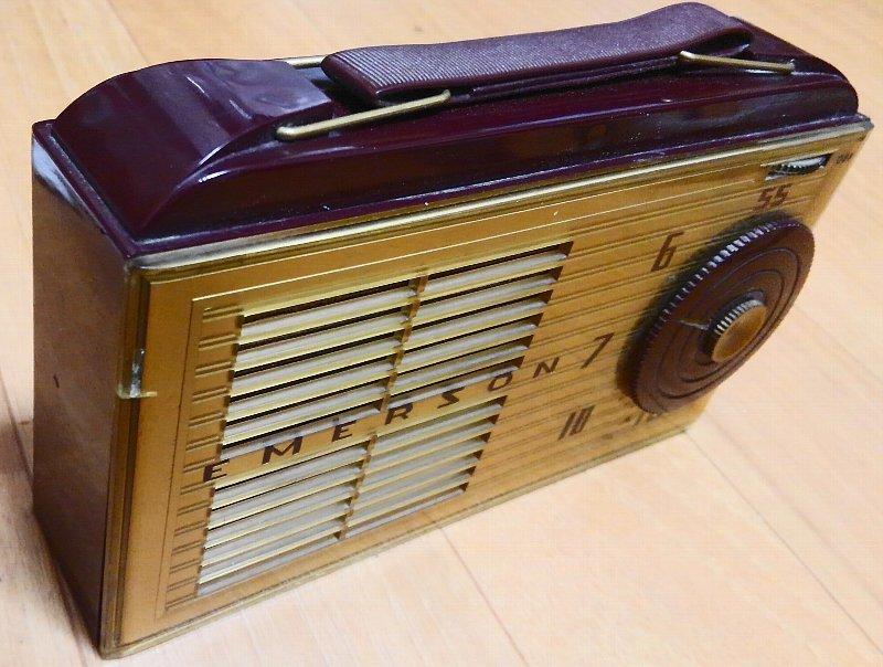 昭和レトロ・希少!Emerson 747 サブミニ管ラジオ 1953年 ジャンク_画像3