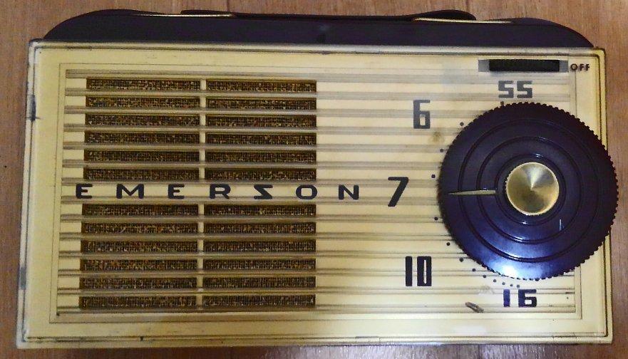昭和レトロ・希少!Emerson 747 サブミニ管ラジオ 1953年 ジャンク