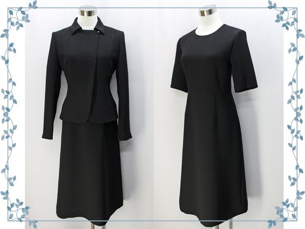 ♪シンプルカラー アンサンブル ブラック フォーマル 15号 日本製 礼服 冠婚葬祭_画像1