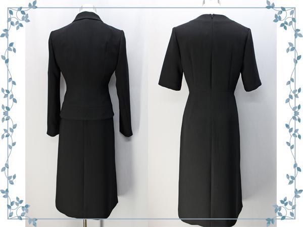 ♪シンプルカラー アンサンブル ブラック フォーマル 15号 日本製 礼服 冠婚葬祭_画像2