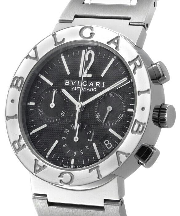 BVLGARI ブルガリ クロノグラフ メンズ【GW04】ブラックギョーシエ文字盤 新品未使用品。ワインデングマシン新品サービスでお付け致します_画像3