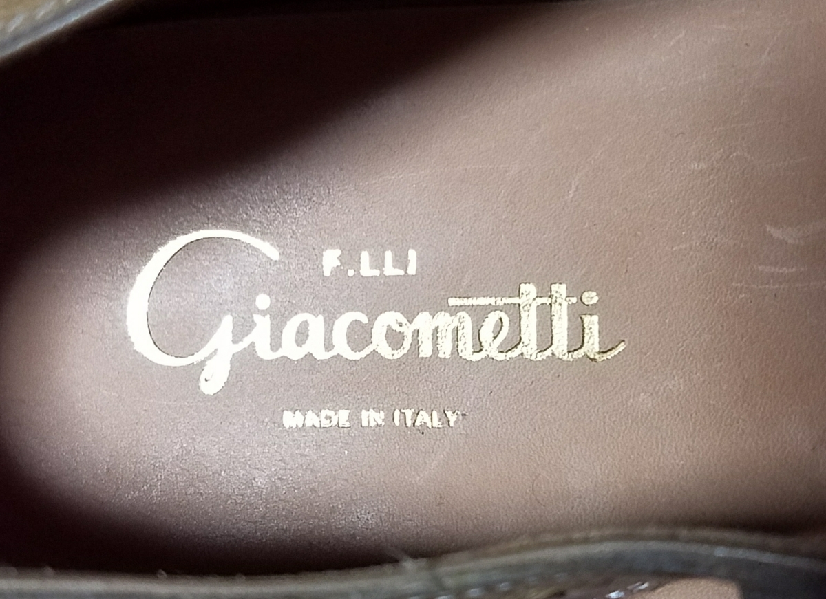 F.LLI Giacometti フラテッリ ジャコメッティ オーストリッチ サンダル 42 未使用品_画像5