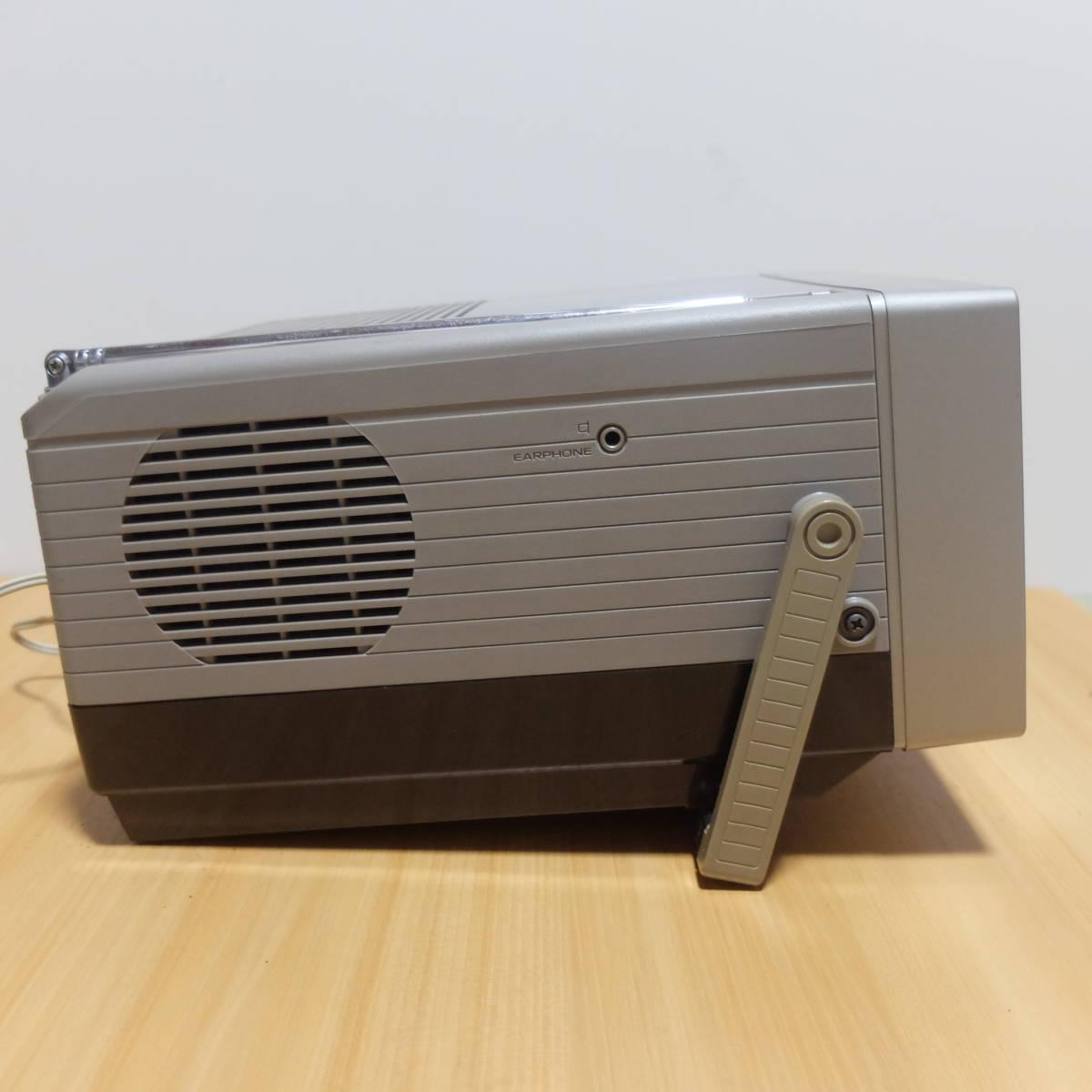 ポータブル 5型 白黒テレビ National ナショナル TR-5090 レトロ品 アンティーク_画像6