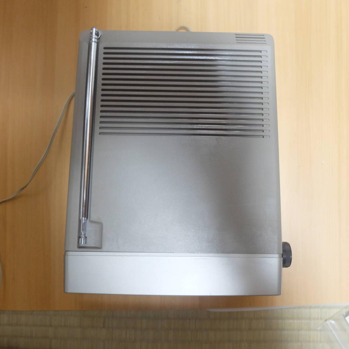 ポータブル 5型 白黒テレビ National ナショナル TR-5090 レトロ品 アンティーク_画像7