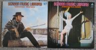 screen * music * library. western Thema * America movie Thema.2 pieces set. King record.