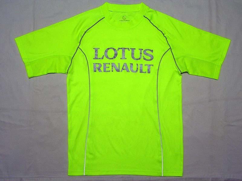【非売品】`11 ロータス・ルノーR31 リフレクター Tシャツ TOMBO ハイドフェルド ペトロフ セナ LOTUS F1 ランニング 夜間 反射 メンズ S M_画像1
