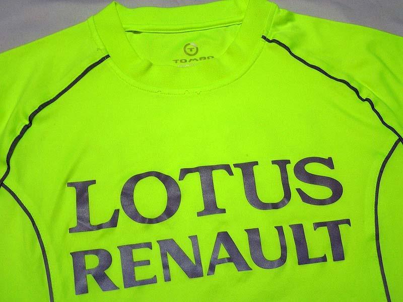 【非売品】`11 ロータス・ルノーR31 リフレクター Tシャツ TOMBO ハイドフェルド ペトロフ セナ LOTUS F1 ランニング 夜間 反射 メンズ S M_画像6