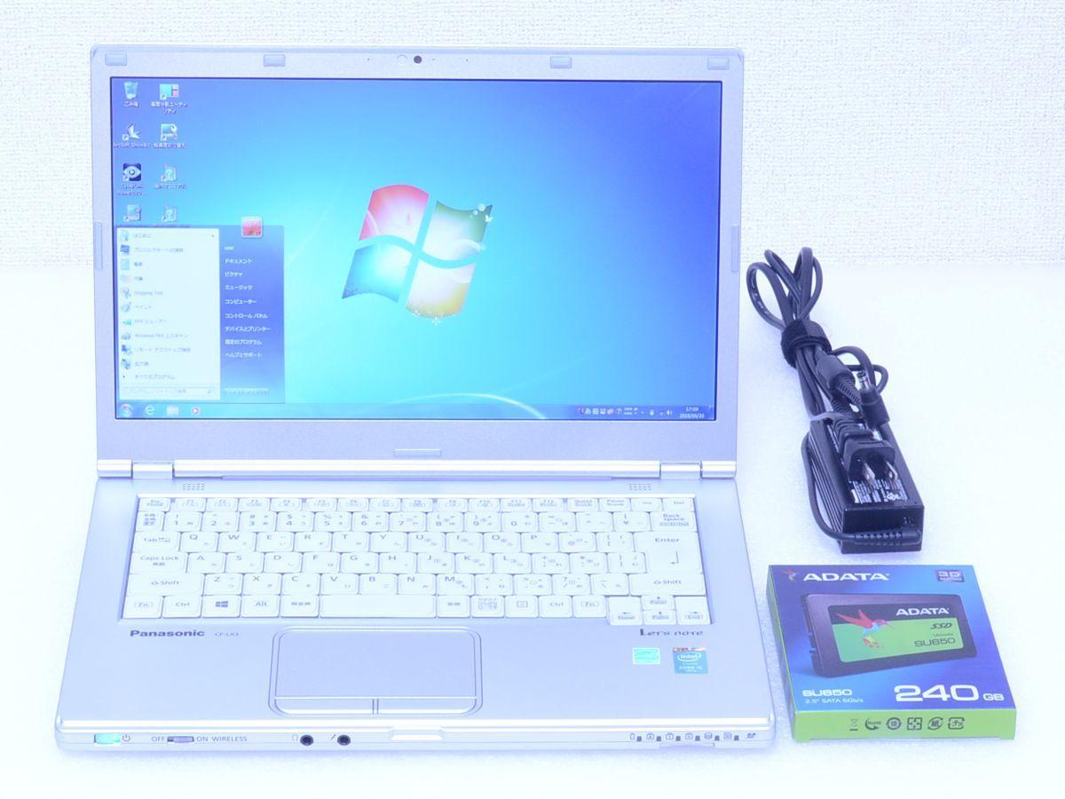 4780時間 爆速動作 SSD搭載 Let's note CF-LX3 Core i5 4310U 8GB 新品 SSD240GB スーパマルチ カメラ Bluetooth Win7/Win8.1 領収証発行可