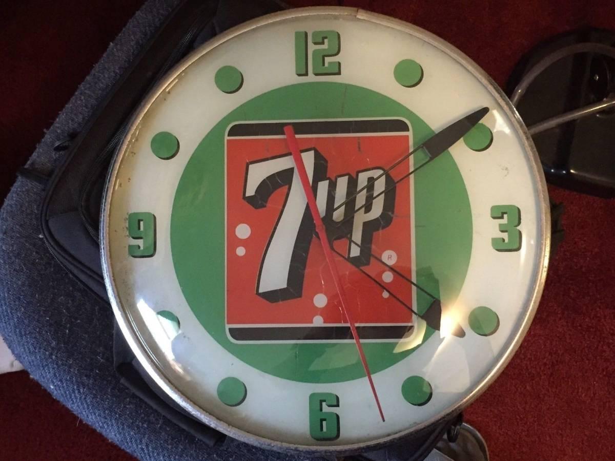 7UP 1960年代 ライトアップ 時計_画像10
