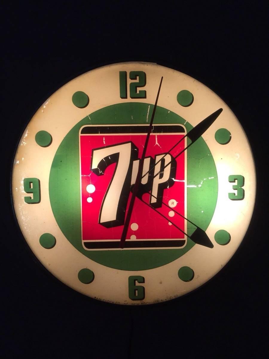 7UP 1960年代 ライトアップ 時計
