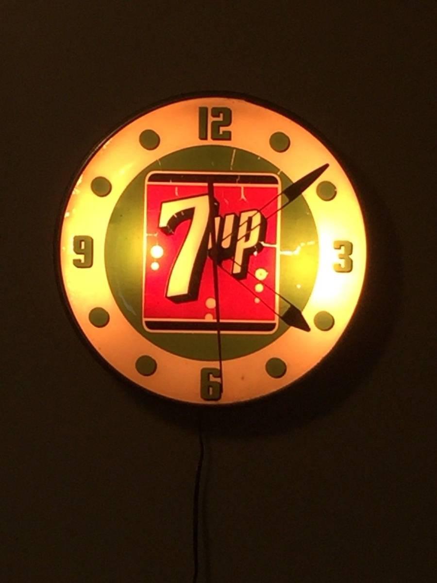 7UP 1960年代 ライトアップ 時計_画像2
