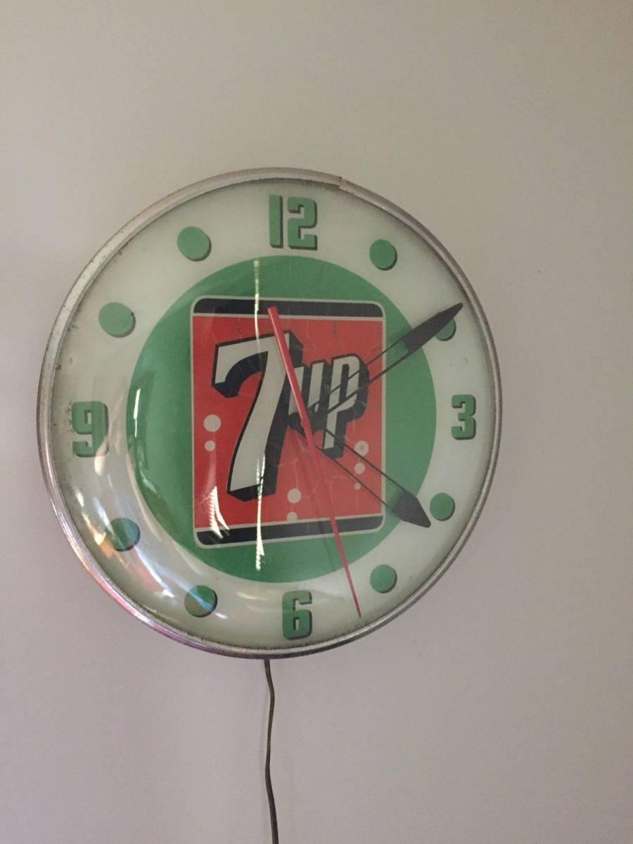7UP 1960年代 ライトアップ 時計_画像4