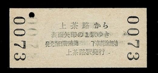 国鉄 北海道 白糠線 上茶路駅から 矢印式 北進 昭和47年 未使用_画像2