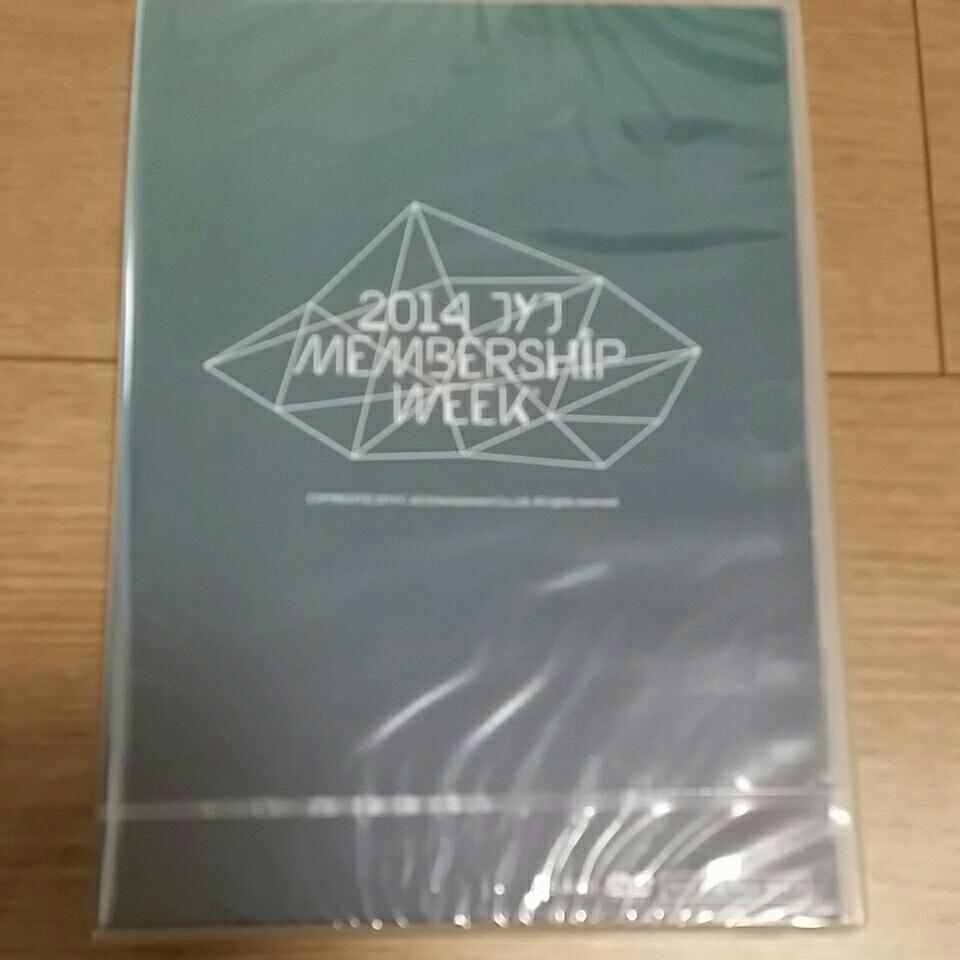 新品未開封 日本版 JYJ 2014 MEMBER SHIP WEEK メンバーシップ ジェジュン ユチョン ジュンス 公式DVD 非売品 貴重 レアグッズ