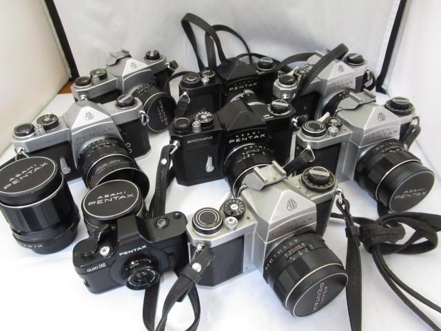329☆ペンタックス ジャンクセット SV 1.8 55mm/SP 1.8 55mm/TAKUMAR 2.8 105mm/SV/SL/SP 1.8 55mm/S2 1:2 55mm/3.5 35mm/auto 110