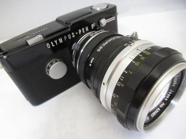 387☆オリンパス OLYMPUS-PEN F NIKKOR-S AUTO 1.4 50mm/TELEMORE95 FOR N ジャンク扱 1円~
