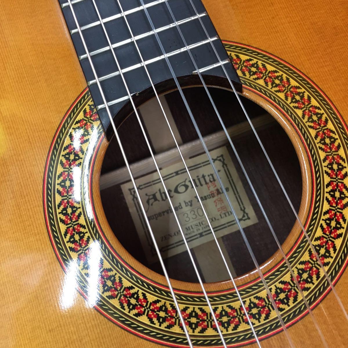 中古 Abe guitar 330 TOP単板 美品 日本製 630mmスケール 調整済 ハードケース付 _画像3