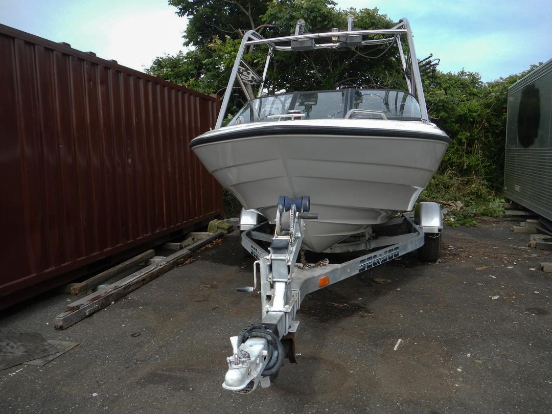 ヤマハ エアロギア AG-21BR EX F150 (E0J) エンジン快調 ウェイクボード艇 新品シートも付いてます トレーラー付き_画像1