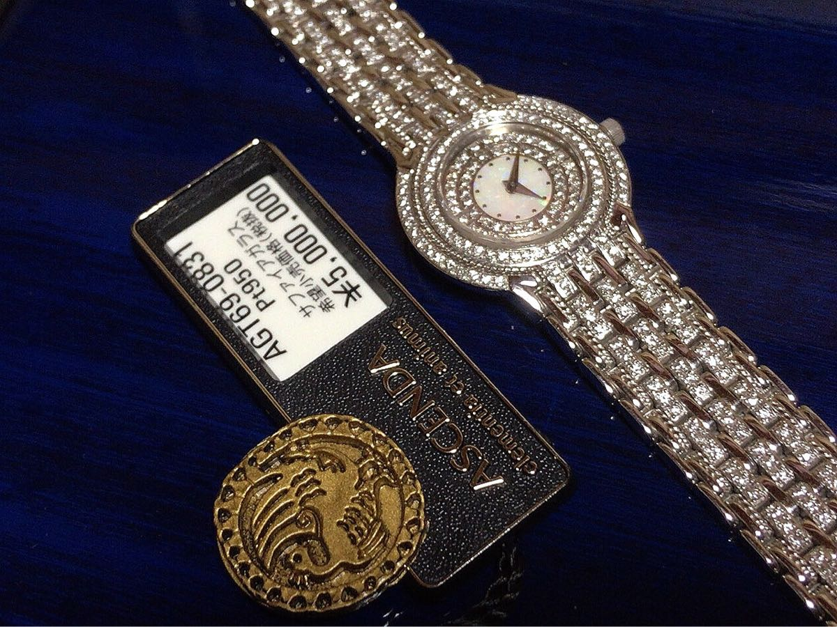 至極の逸品◆500萬超!シチズンアセンダ!◆日本の名ウォッチ!プラチナ無垢全面ダイヤ!◆最高コンディション_画像2