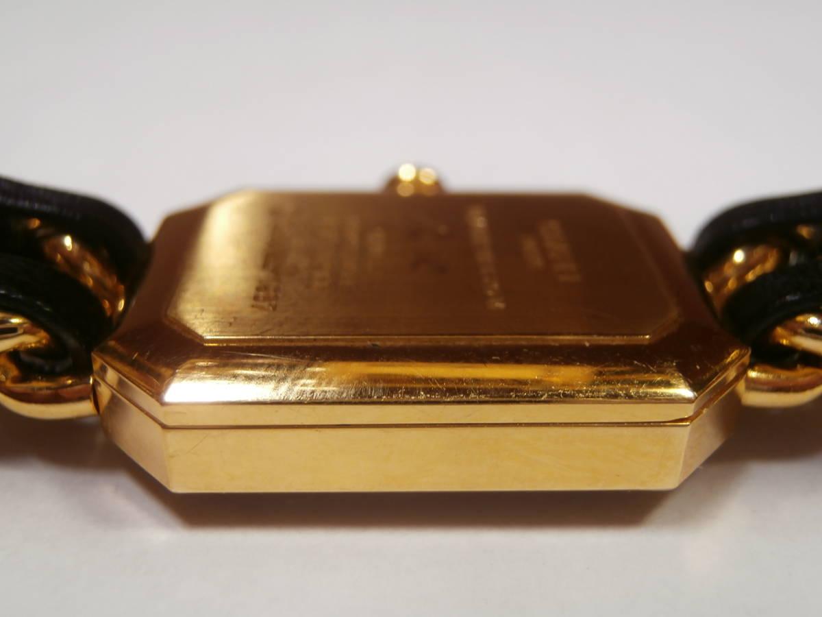△7bb CHANEL シャネル 腕時計 プルミエール PLAQUE OR G 20 M 電池交換済み 本物保証_画像4
