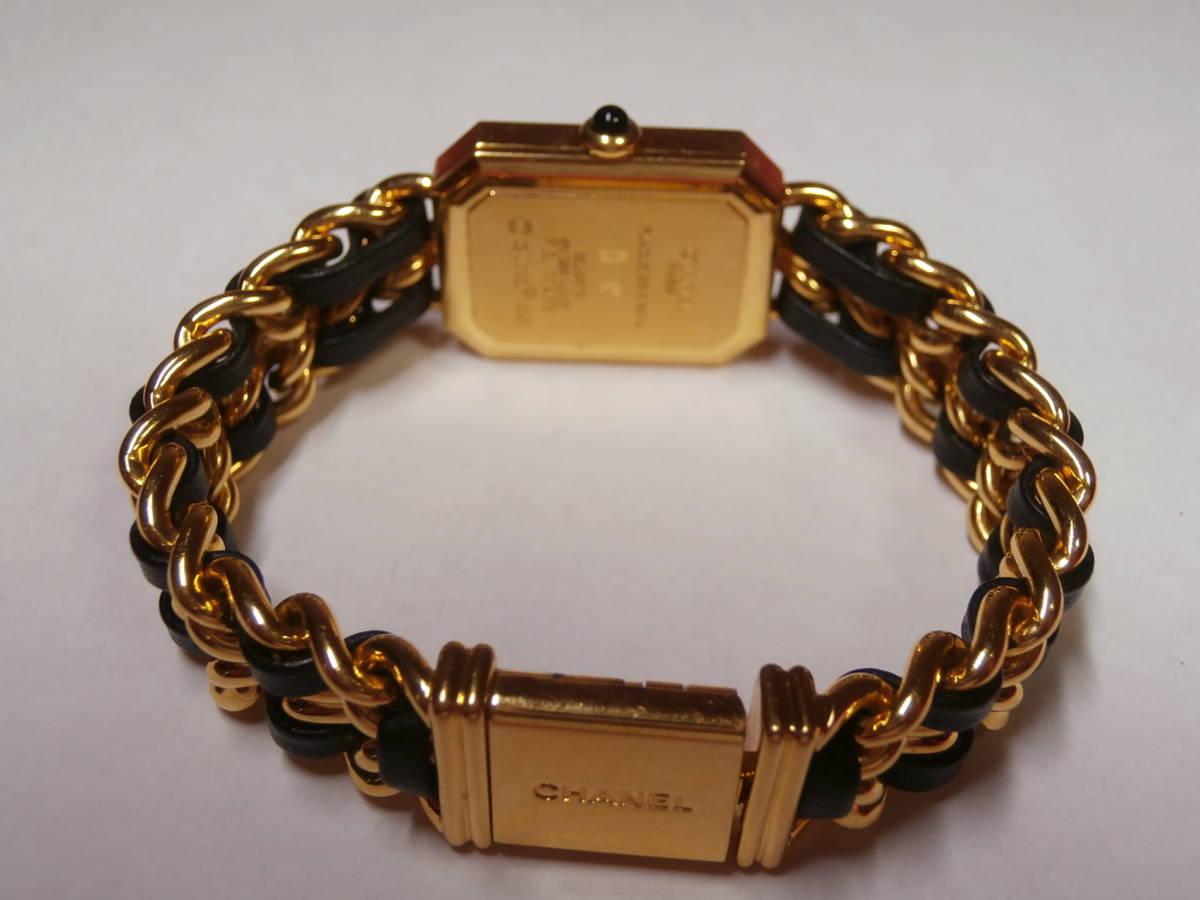 △7bb CHANEL シャネル 腕時計 プルミエール PLAQUE OR G 20 M 電池交換済み 本物保証_画像8