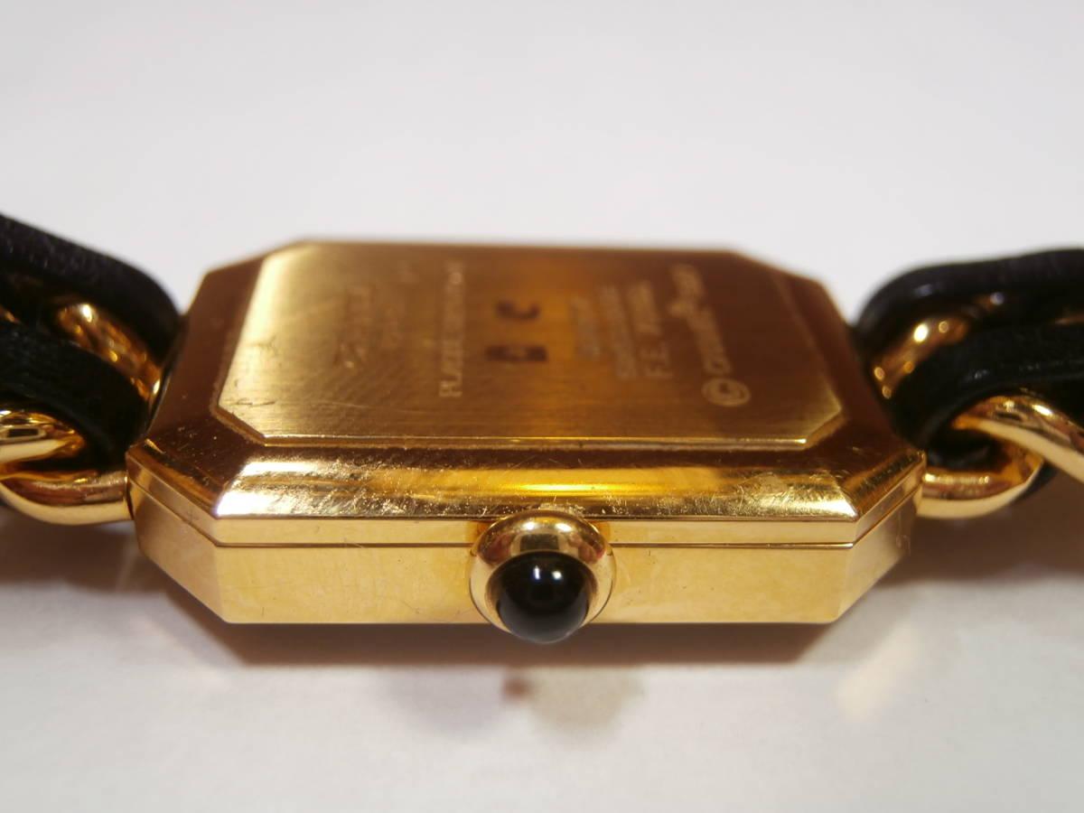△7bb CHANEL シャネル 腕時計 プルミエール PLAQUE OR G 20 M 電池交換済み 本物保証_画像3