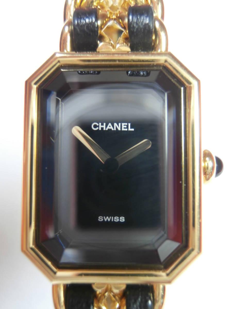 △7bb CHANEL シャネル 腕時計 プルミエール PLAQUE OR G 20 M 電池交換済み 本物保証_画像2