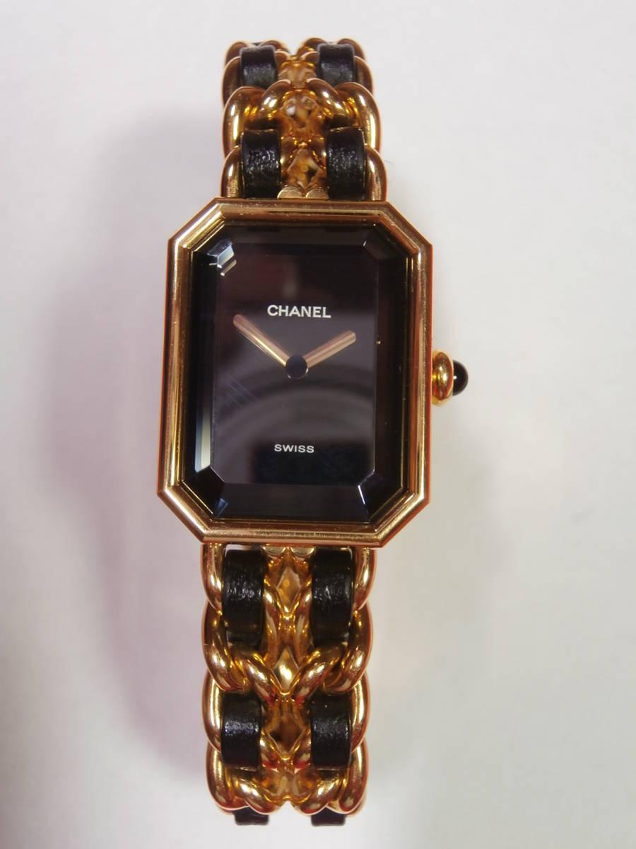 △7bb CHANEL シャネル 腕時計 プルミエール PLAQUE OR G 20 M 電池交換済み 本物保証_画像9