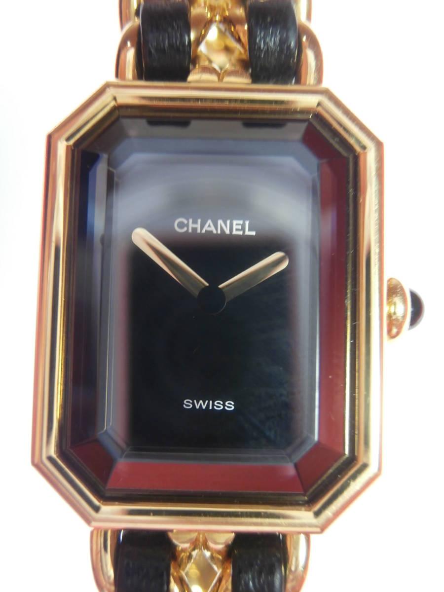 △7bb CHANEL シャネル 腕時計 プルミエール PLAQUE OR G 20 M 電池交換済み 本物保証_画像10