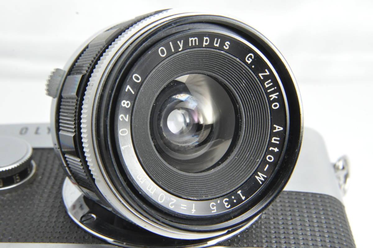 #2222 OLYMPUS-PEN F G.ZUIKO Auto-W 20mm F3.5 オリンパス ペン 広角レンズ付き_画像7