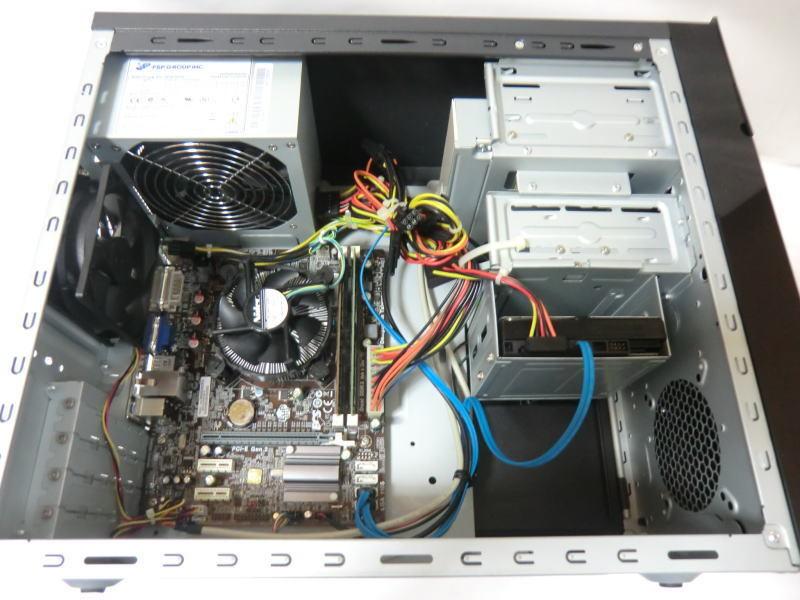 ★FRONTIER FRMX616/Ds★ ECS H61H2-M2/intel Core i7 3770/8GB/500GB/460W/Win7 64bit インストール済/自作PC系_画像3