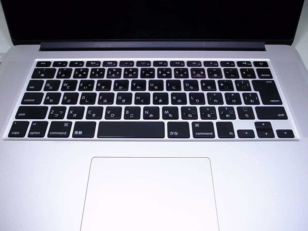 MacBookPro Mid 2012 MC976J/A Corei7 Quad-Core 2.6GHz 15インチ Retinaディスプレイモデル 部品取り ジャンク_画像8