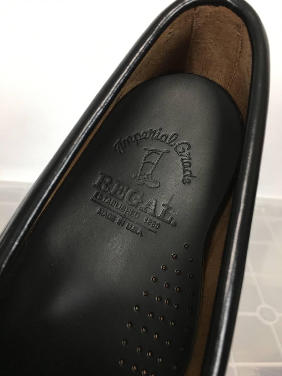 未使用品 REGAL Imperial grade リーガル インペリアルグレード 2592 レザー ローファー モカシン サイズ10 USA製 廃番 最高級ライン_画像4
