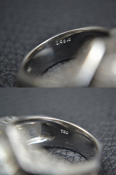 MITSUO KAJI/ミツオ カジ 梶 光夫 スカル 指輪 K18WG×ルビー×ダイヤモンド_画像10