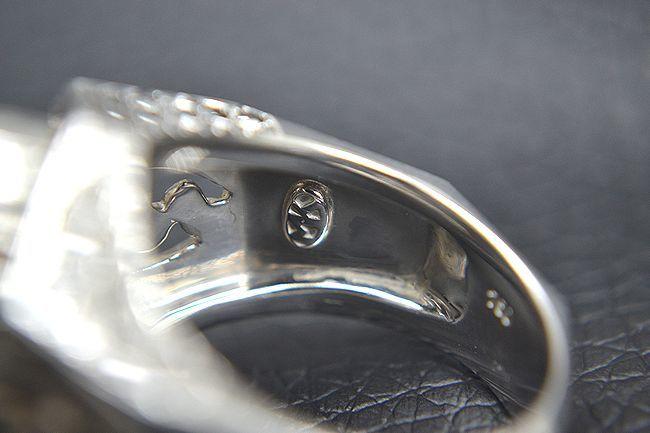 MITSUO KAJI/ミツオ カジ 梶 光夫 スカル 指輪 K18WG×ルビー×ダイヤモンド_画像9