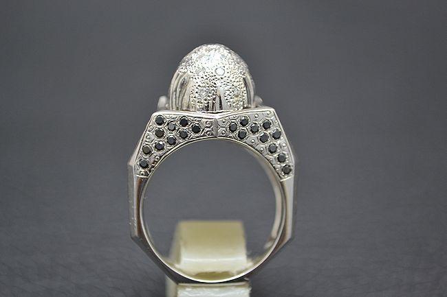 MITSUO KAJI/ミツオ カジ 梶 光夫 スカル 指輪 K18WG×ルビー×ダイヤモンド_画像6