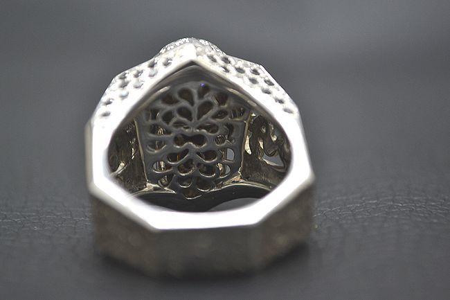 MITSUO KAJI/ミツオ カジ 梶 光夫 スカル 指輪 K18WG×ルビー×ダイヤモンド_画像4