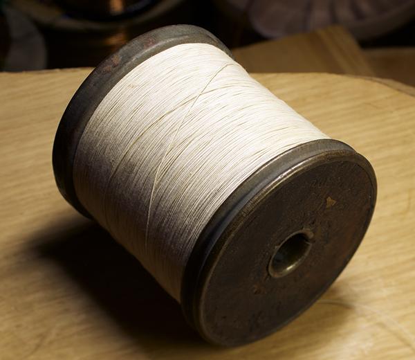 (極上品格)ヴィンテージ ROEBLING AWG34 裸銅線 (コットンカバー)4メートル_画像2