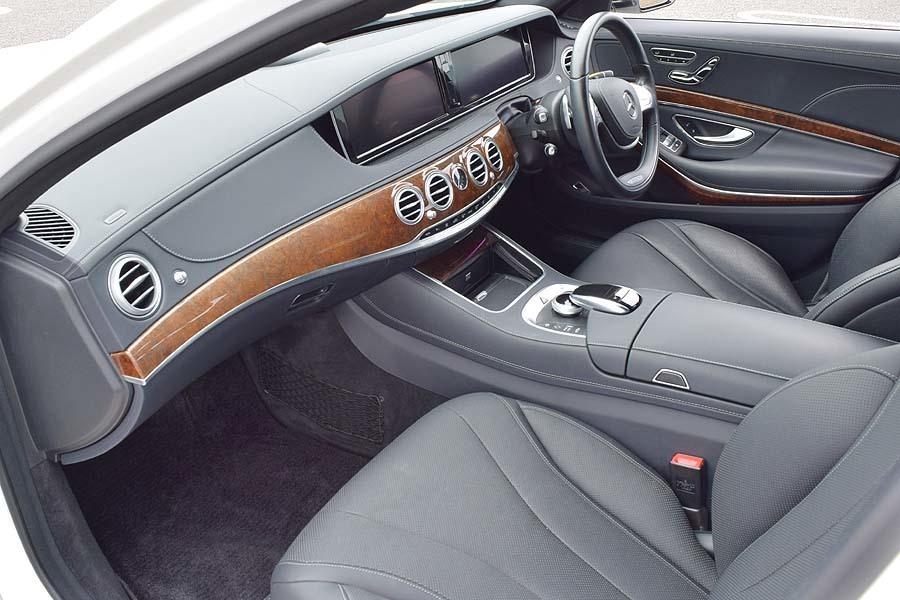 実走行30200km 2015年モデル メルセデスベンツS400hラグジュアリーPKG 人気のダイヤモンドホワイト 黒革 18AW ETC 現車確認如何ですか?_画像7