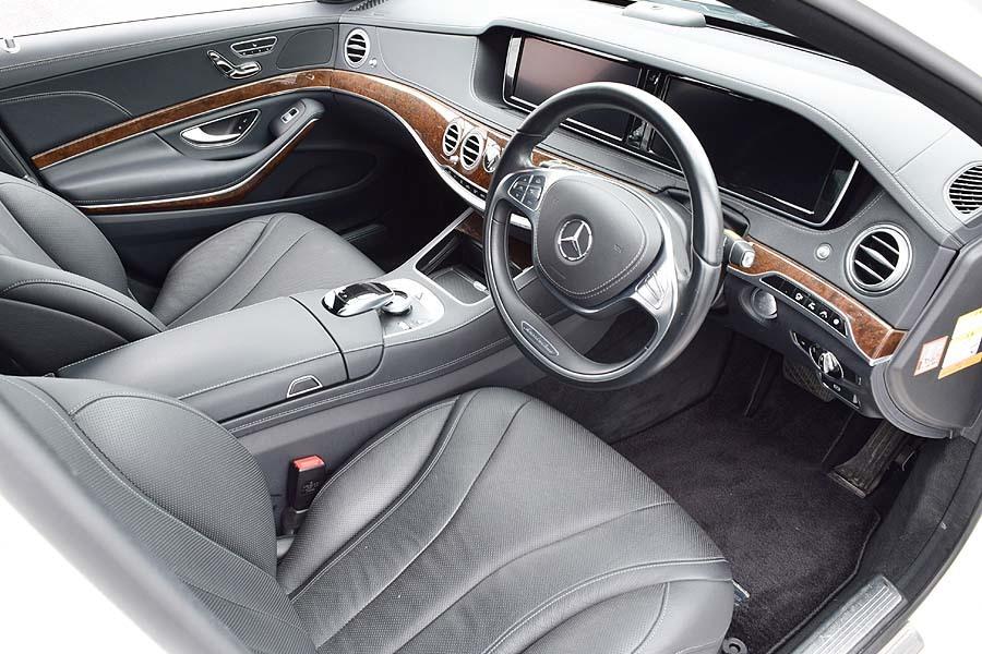 実走行30200km 2015年モデル メルセデスベンツS400hラグジュアリーPKG 人気のダイヤモンドホワイト 黒革 18AW ETC 現車確認如何ですか?_画像6