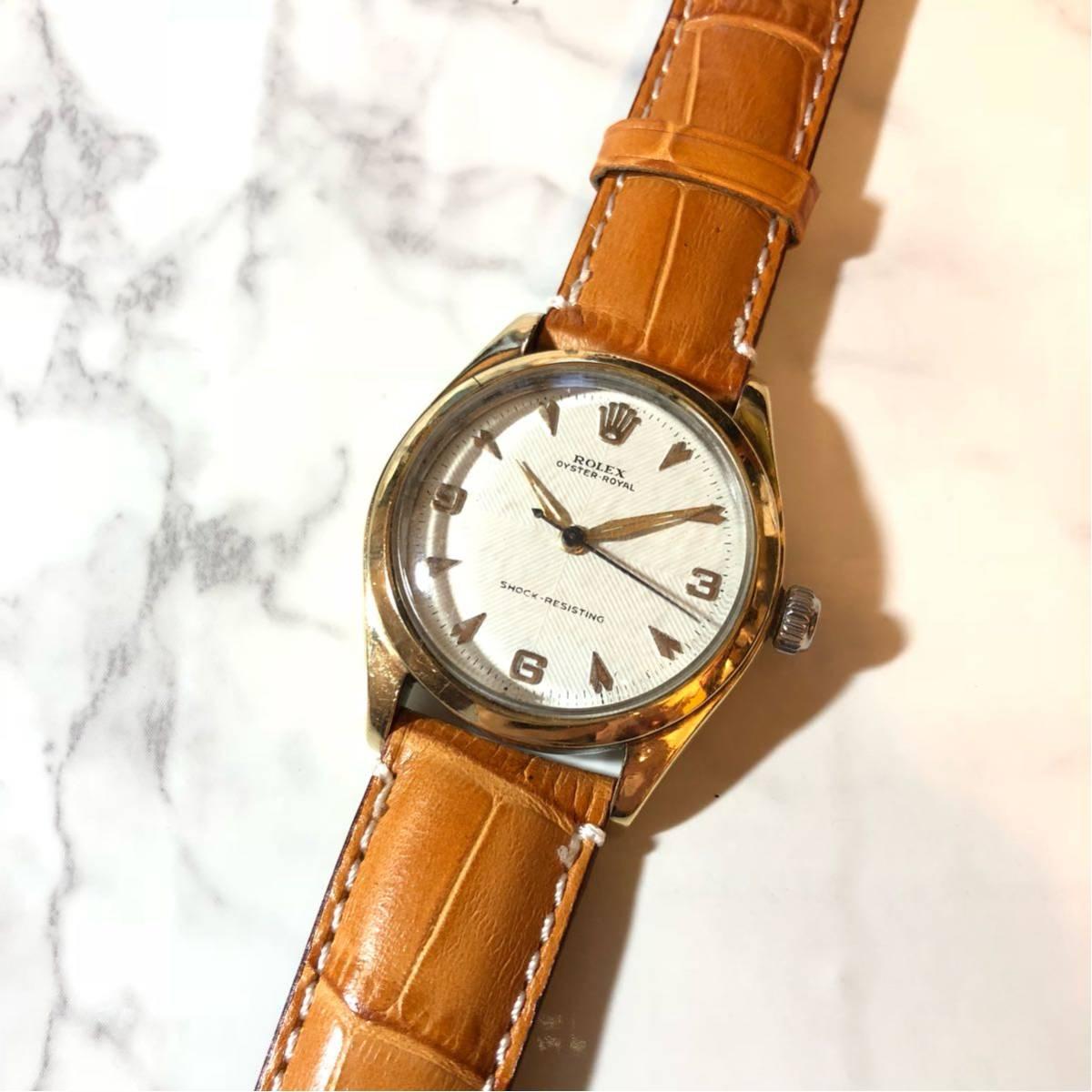 1円スタート☆【ROLEX】Ref-6244 OYSTER ROYAL 手巻き腕時計 WH-1125