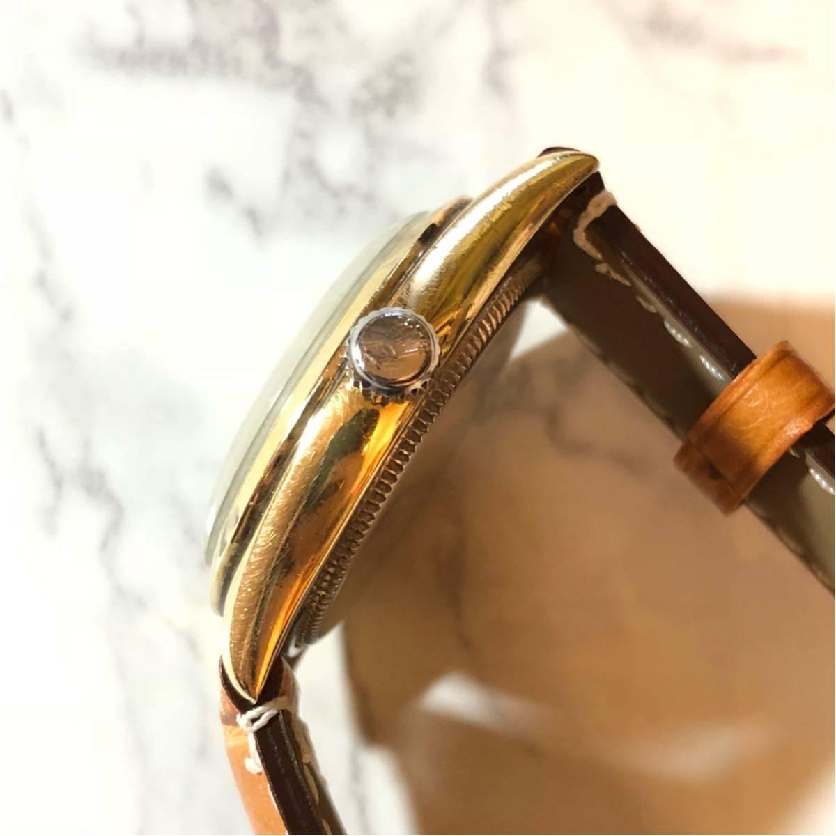 1円スタート☆【ROLEX】Ref-6244 OYSTER ROYAL 手巻き腕時計 WH-1125_画像6