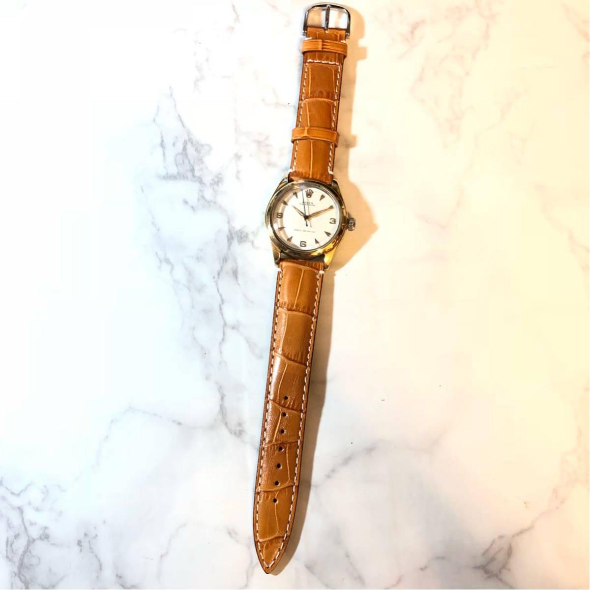 1円スタート☆【ROLEX】Ref-6244 OYSTER ROYAL 手巻き腕時計 WH-1125_画像4