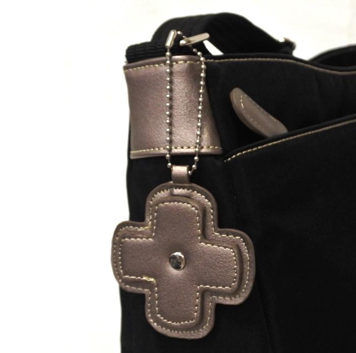 ナイロン ショルダーバッグ レディース ブラック 軽い 斜め掛け nicoletta moretti   日常撥水 たくさん入る かばん 鞄 女性 シニア 黒_画像5